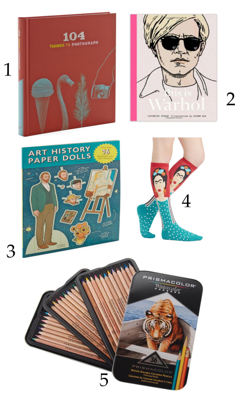 5 Ideas de regalos para art lovers