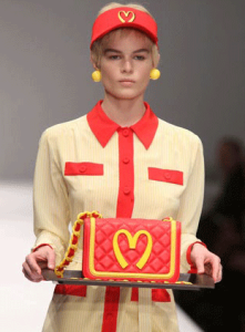 Ronald McDonald meets Moschino