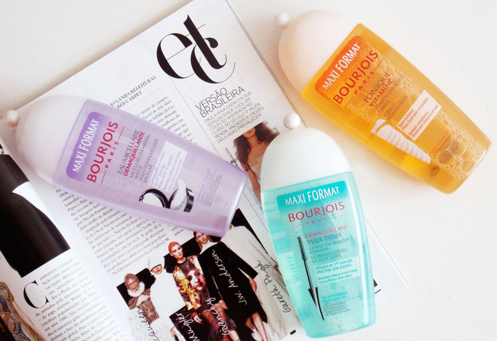 Bourjois micellar water, eye makeup remover and toner