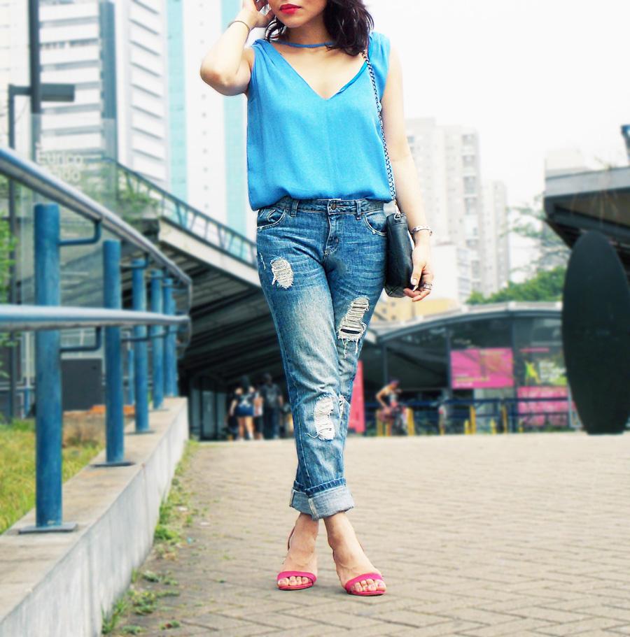 magenta-heels-blue-top